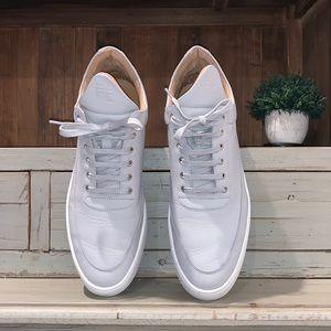 Filling Pieces men's gray mid sneaker SZ 13